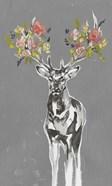 Deer & Flowers II