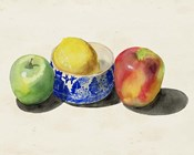 Still Life with Apples & Lemon I