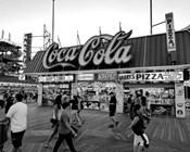 Coca Cola Sign - Boardwalk, Wildwood NJ (BW)