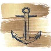 Brushed Gold Anchor