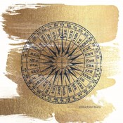 Brushed Gold Compass