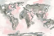 World Map Blush