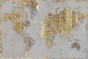 Gilded Map Light Gray