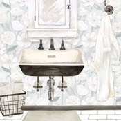 White Floral Bath I