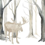 Winter Forest Moose