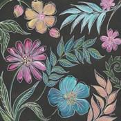 Boho Florals on Black I