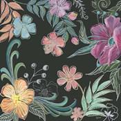 Boho Florals on Black II