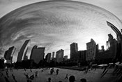 The Bean Chicago BW