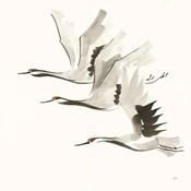 Zen Cranes II Warm