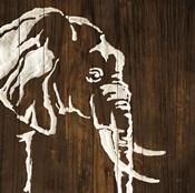 White Elephant on Dark Wood