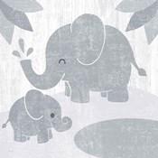 Safari Fun Elephant Gray no Border