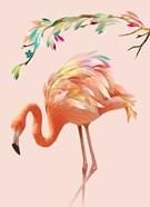 Flamingo and Garland