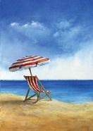 Deck Chairs on Beach II