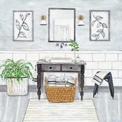 Upstate Farmhouse Bath I
