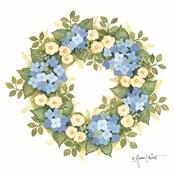 Hydrangeas in Bloom Wreath