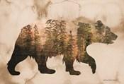 Brown Woods Bear Silhouette