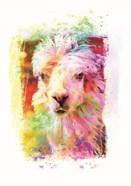 Funky Rainbow Llama I