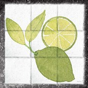 Citrus Tile VII Black Border