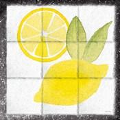 Citrus Tile VI Black Border