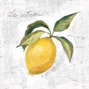 Le Citron on White