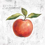 La Pomme on White