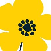 Pop Art Floral I Yellow