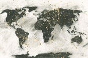 World Map Gold Speckle