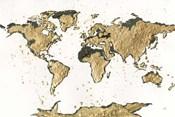 World Map Gold Leaf