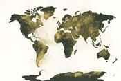 World Map Gold Dust