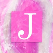 Watercolor Agate Monogram (J)