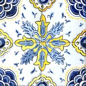 Yellow and Blue Spanish Tile II
