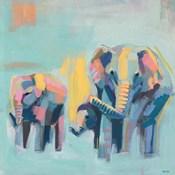 Multicolored Elephants II