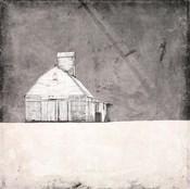 Farmhouse under Grey Skies