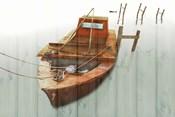 Boat with Textured Wood Look III