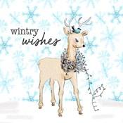Blue Whimsical Christmas I