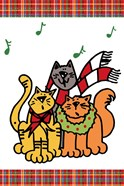 Christmas Cat Jingles on Plaid