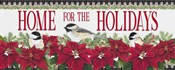 Chickadee Christmas Red - Home for the Holidays horizontal