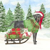 Dog Days of Christmas II Sled with Gifts