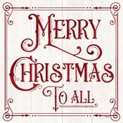 Vintage Christmas Signs IV-Merry Christmas