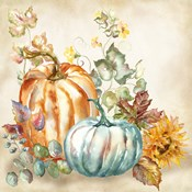 Watercolor Harvest Pumpkin I