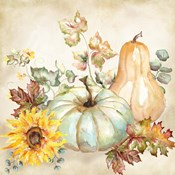 Watercolor Harvest Pumpkin II