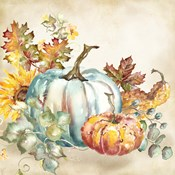 Watercolor Harvest Pumpkin III