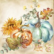 Watercolor Harvest Pumpkin IV