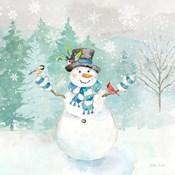 Let it Snow Blue Snowman I