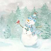Let it Snow Blue Snowman II