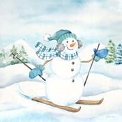 Let it Snow Blue Snowman III