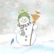 Let it Snow Blue Snowman IV