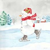 Let it Snow Blue Snowman V