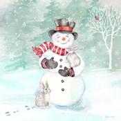 Let it Snow Blue Snowman VI
