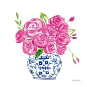 Chinoiserie Roses on White II